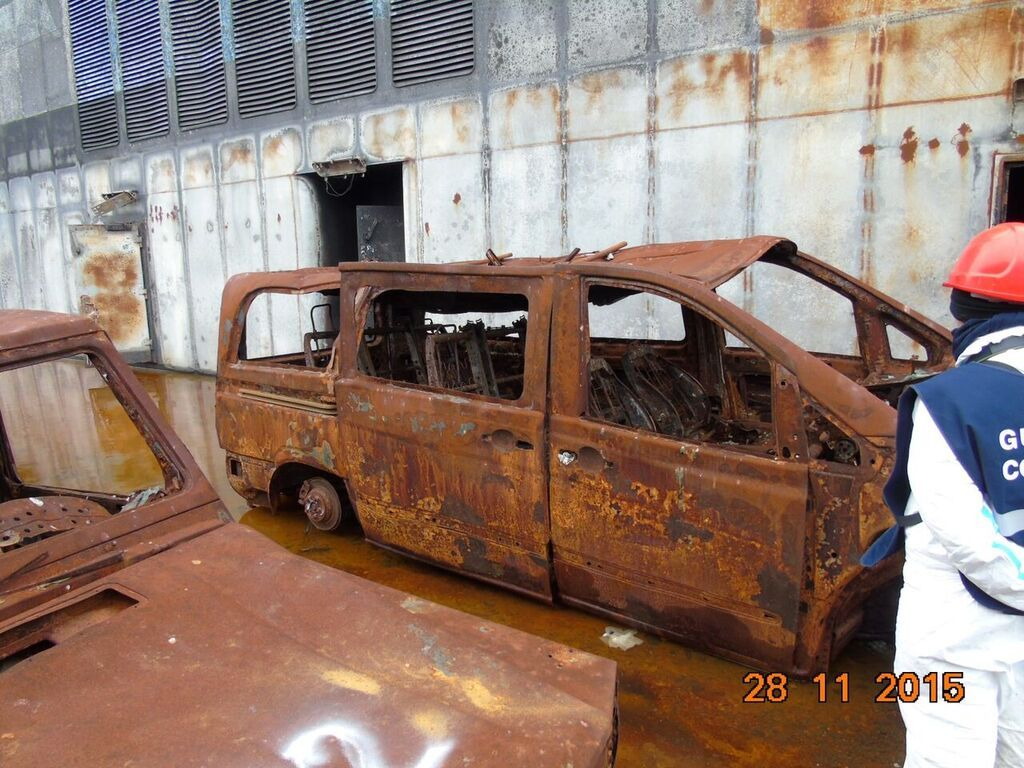 Completely Destroyed Client's Vehicle on Deck 5 of Norman Atlantic