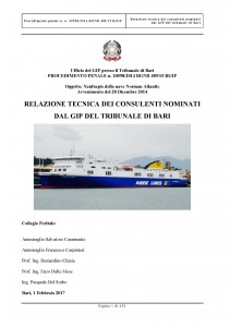 NORMAN ATLANTIC - TECHNICAL EXPERTS' REPORT